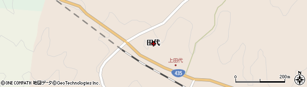 山口県下関市豊北町大字滝部(田代)周辺の地図