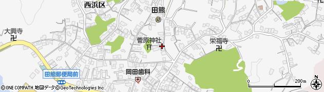 広島県尾道市因島田熊町(中央区)周辺の地図