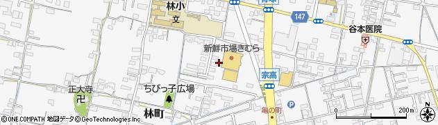 香川県高松市林町周辺の地図