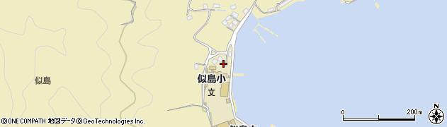 広島県広島市南区似島町(大黄)周辺の地図