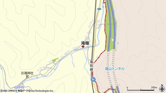 〒649-6301 和歌山県和歌山市滝畑の地図