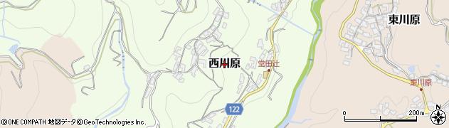 和歌山県紀の川市西川原周辺の地図