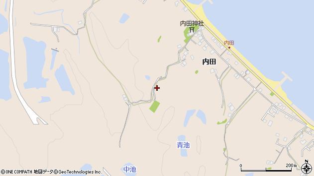 〒656-2542 兵庫県洲本市由良町内田の地図