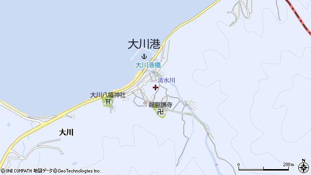 〒640-0101 和歌山県和歌山市大川の地図