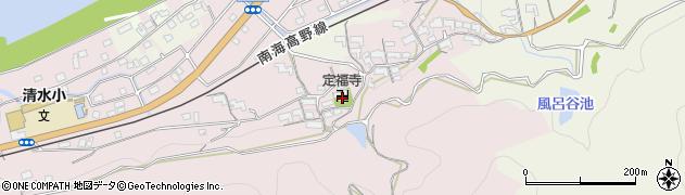 定福寺周辺の地図