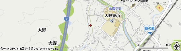 広島県廿日市市大野水口周辺の地図