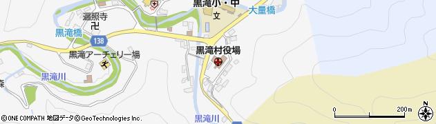 奈良県吉野郡黒滝村周辺の地図