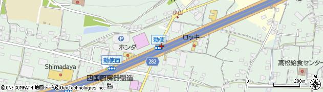勅使周辺の地図
