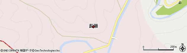 奈良県黒滝村(吉野郡)長瀬周辺の地図