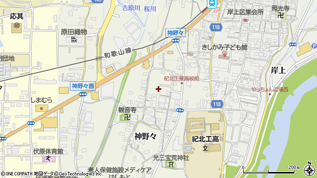 〒648-0086 和歌山県橋本市神野々の地図