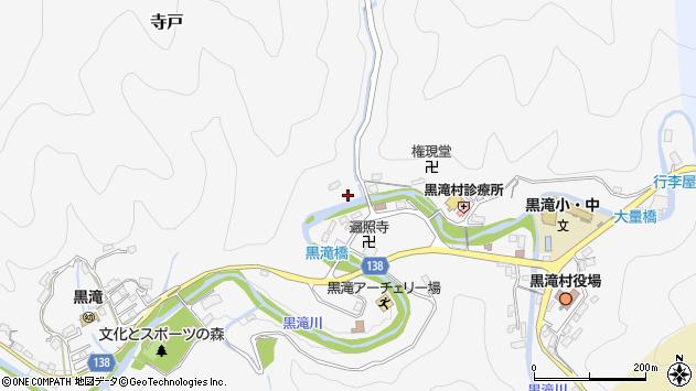 〒638-0251 奈良県吉野郡黒滝村寺戸の地図