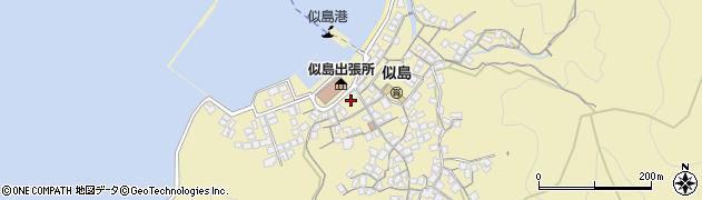 広島県広島市南区似島町(家下)周辺の地図