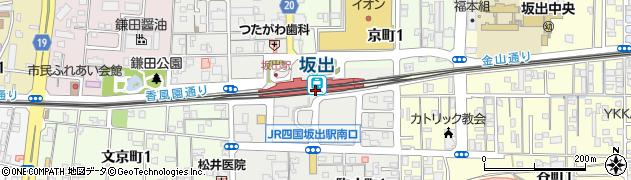 香川県坂出市周辺の地図