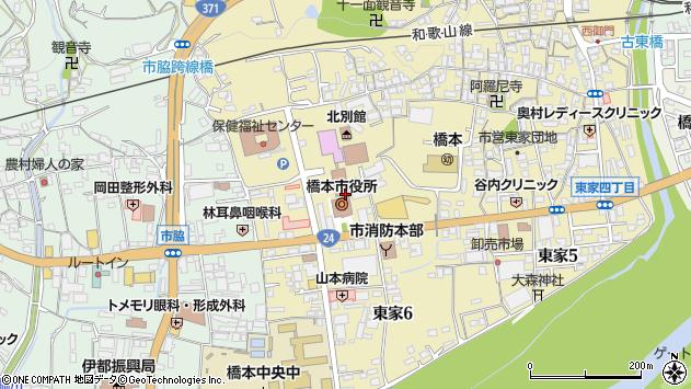 〒648-0000 和歌山県橋本市(以下に掲載がない場合)の地図
