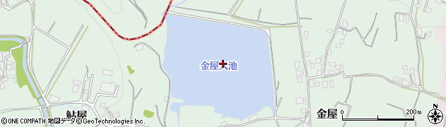 金屋大池周辺の地図