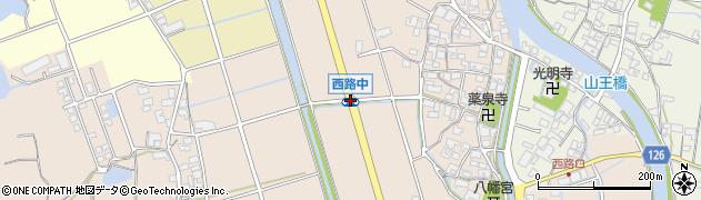西路中周辺の地図