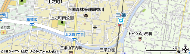 香川県高松市上之町2丁目周辺の地図