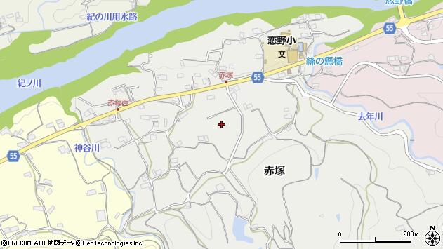 〒648-0022 和歌山県橋本市赤塚の地図