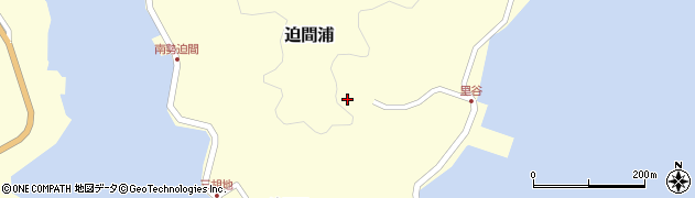 迫間浦神社周辺の地図