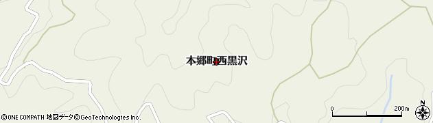 山口県岩国市本郷町西黒沢周辺の地図