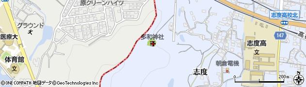 多和神社周辺の地図