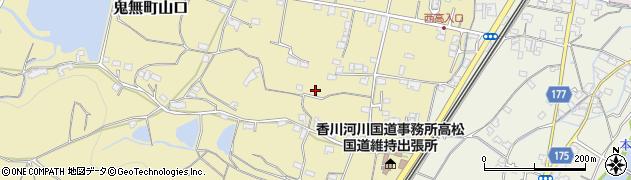 香川県高松市鬼無町山口周辺の地図