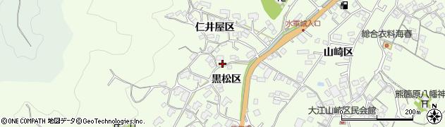 広島県尾道市因島中庄町(黒松区)周辺の地図