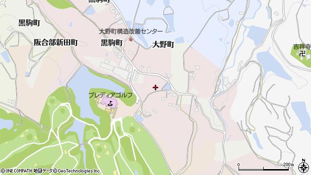 〒637-0063 奈良県五條市大野町の地図