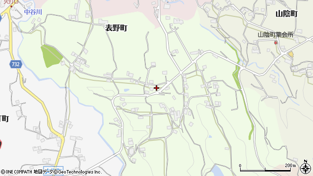 〒637-0069 奈良県五條市表野町の地図