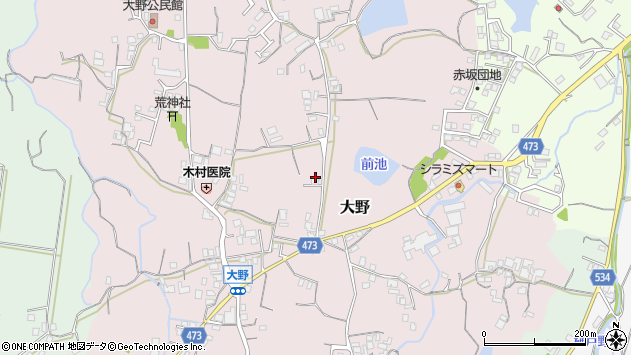 〒656-0055 兵庫県洲本市大野の地図