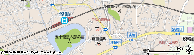 大阪府泉南郡岬町淡輪1167-2周辺の地図