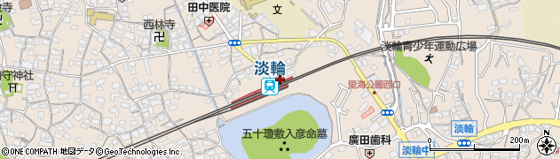 大阪府泉南郡岬町周辺の地図