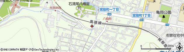香川県高松市宮脇町周辺の地図