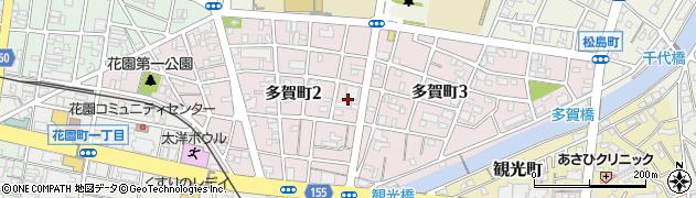 香川県高松市多賀町周辺の地図
