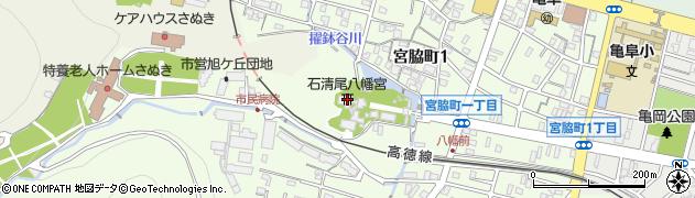 石清尾八幡神社周辺の地図