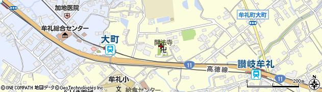 開法寺周辺の地図