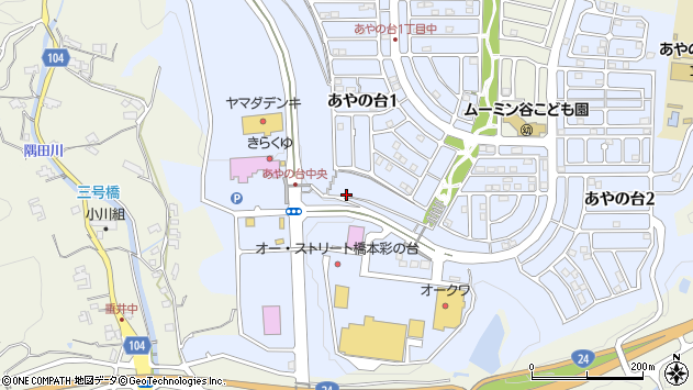 〒648-0019 和歌山県橋本市あやの台の地図