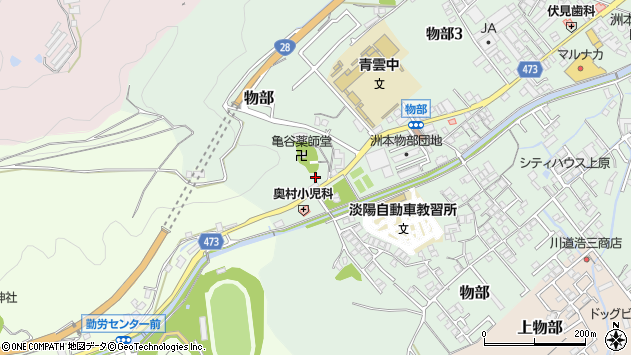 〒656-0051 兵庫県洲本市物部の地図