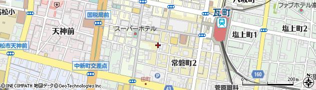香川県高松市常磐町2丁目周辺の地図