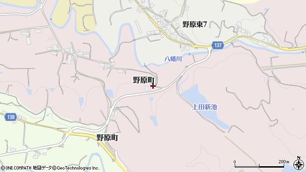 〒637-0034 奈良県五條市野原町の地図