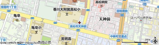 中野天満神社周辺の地図