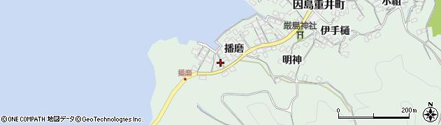 広島県尾道市因島重井町(播磨)周辺の地図