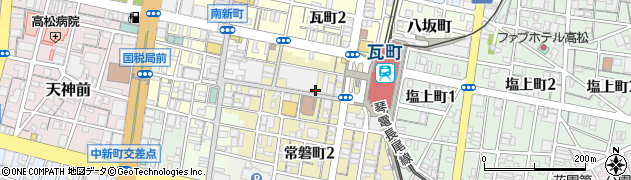 香川県高松市常磐町1丁目周辺の地図