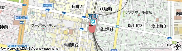 香川県高松市周辺の地図
