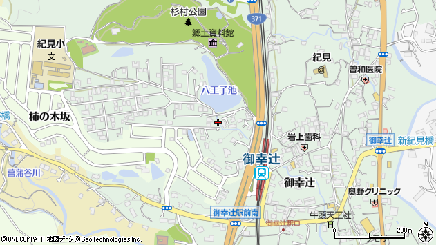 〒648-0096 和歌山県橋本市御幸辻の地図