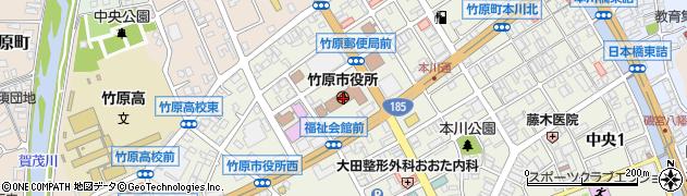 広島県竹原市周辺の地図