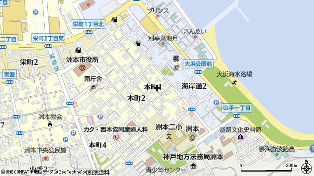 〒656-0025 兵庫県洲本市本町の地図