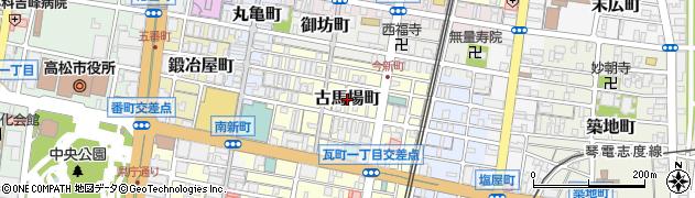 香川県高松市古馬場町周辺の地図