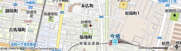 妙朝寺周辺の地図