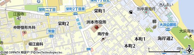兵庫県洲本市周辺の地図